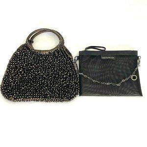 Anteprima Brown Bronze Plastic Wire Handbag